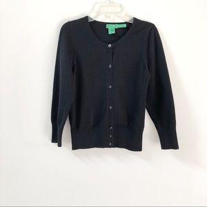 Tibi   Black Button Down Sweater Cardigan